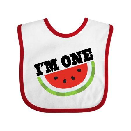 I'm One 1st Birthday Watermelon Baby Bib for $<!---->