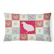Texas Quail Love Canvas Fabric Decorative Pillow