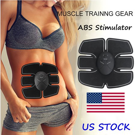 Muscle Training Gear, Abdominal Muscle Trainer Smart Body Building Fitness Home Office Exercise for Women