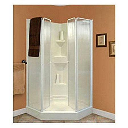Neo Angle Rv Trackless Shower Tub Door 40 Quot Walmart Com
