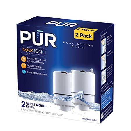 PUR Faucet Mount Replacement Water Filter - Basic 2 Pack Pur Fm9400 Faucet