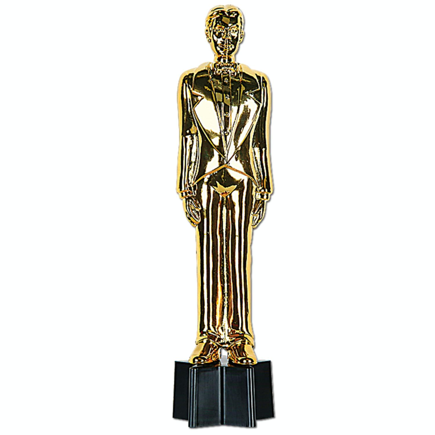 """Pack of 6 Hollywood Movie Awards Night Male Statuette Party Favor Decorations 9"""""""