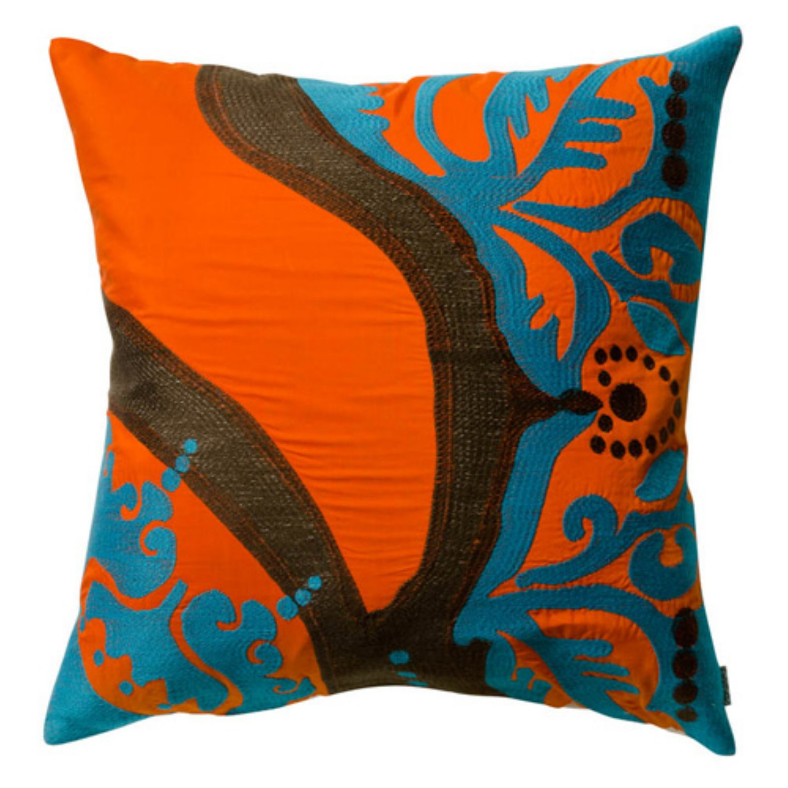 Koko Company 18 in. Coptic Square Pillow - Orange