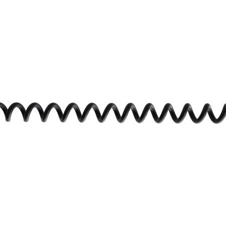 Phone Mp3 Flexible Spring 3.5mm Male to Male M/M Car Aux Audio Cable Black - image 1 de 3