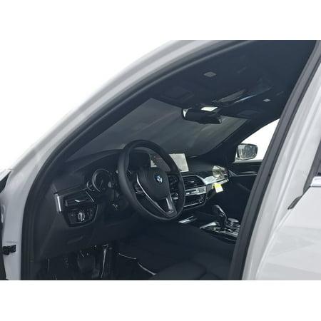 The Original Windshield Sun Shade, Custom-Fit for BMW 530i Sedan 2017, 2018, 2019, Silver Series