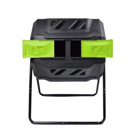 EJWOX Composting Tumbler 43 Gallon, Dual Rotating Compost Bin, Green