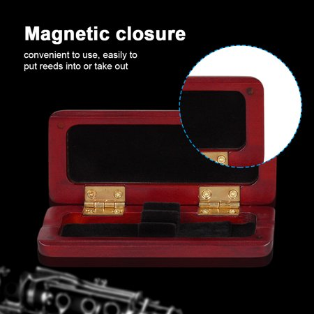 Ejoyous Durable Maple Wooden Reeds Holder Case Box for Oboe Saxophone Clarinet Accessory, Reed Case, Maple Wood