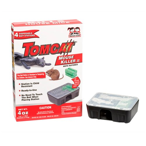 Tomcat Mouse Killer II Disposable Bait Stations, 4 count