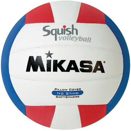 Mikasa Park Lane - Mikasa Squish VSV100 Outdoor Volleyball, Red/White/Blue