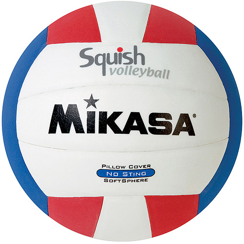 Mikasa Squish VSV100 Outdoor Volleyball, Red/White/Blue