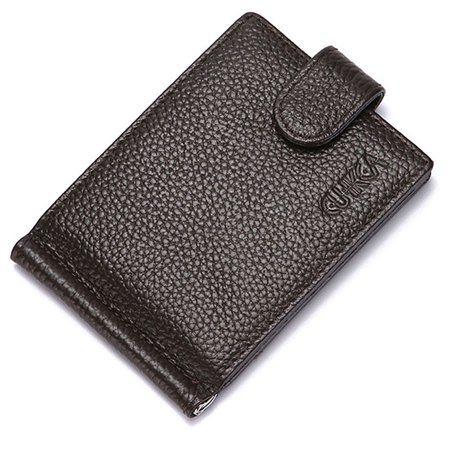 Luxury Leather Gift - SHOPFIVE Luxury High Quality Mens Black Leather Bifold Wallet Credit Card Holder Gift