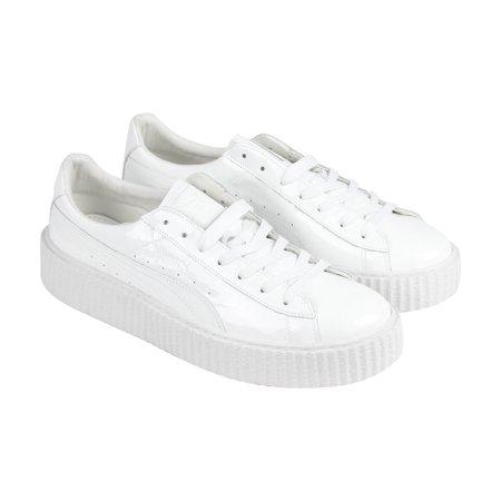 san francisco e3fbe d1bfa Puma - Puma Basket Creepers Glossy U White White Mens Lace ...