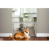 "Carlson Easy Fit Plastic Adjustable Dog Gate, Gray, 42""L x 3""W x 23""H"