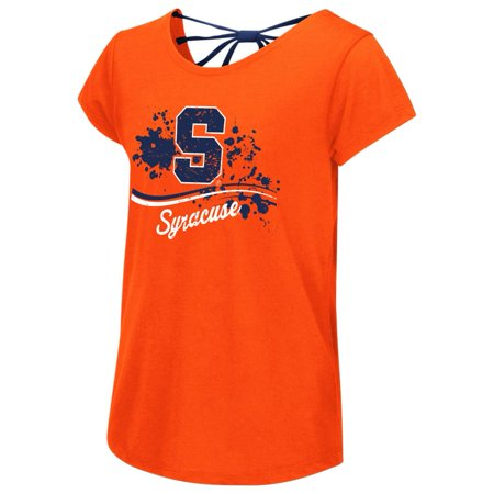 - Syracuse University Youth Girls Bow Back Short Sleeve Tee