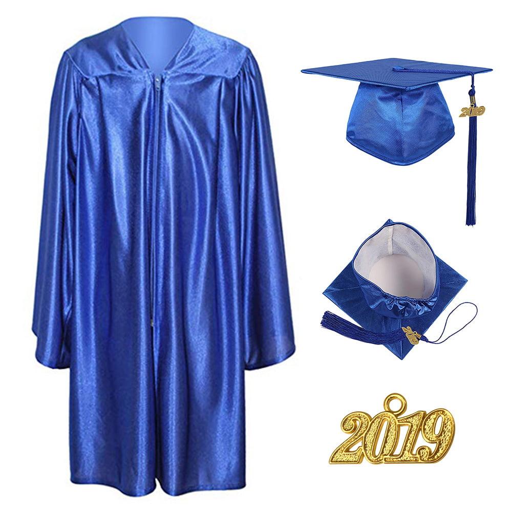 Preschool and Kindergarten Graduation Shiny Gown Cap Tassel 2020 Package