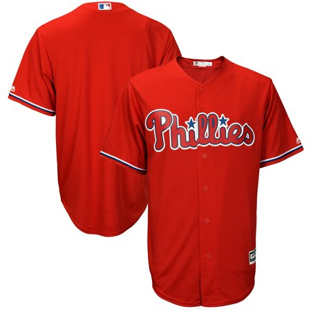 Men's Majestic Scarlet Philadelphia Phillies Big & Tall Fashion Cool Base Replica Team Jersey Majestic Mens Cool Base