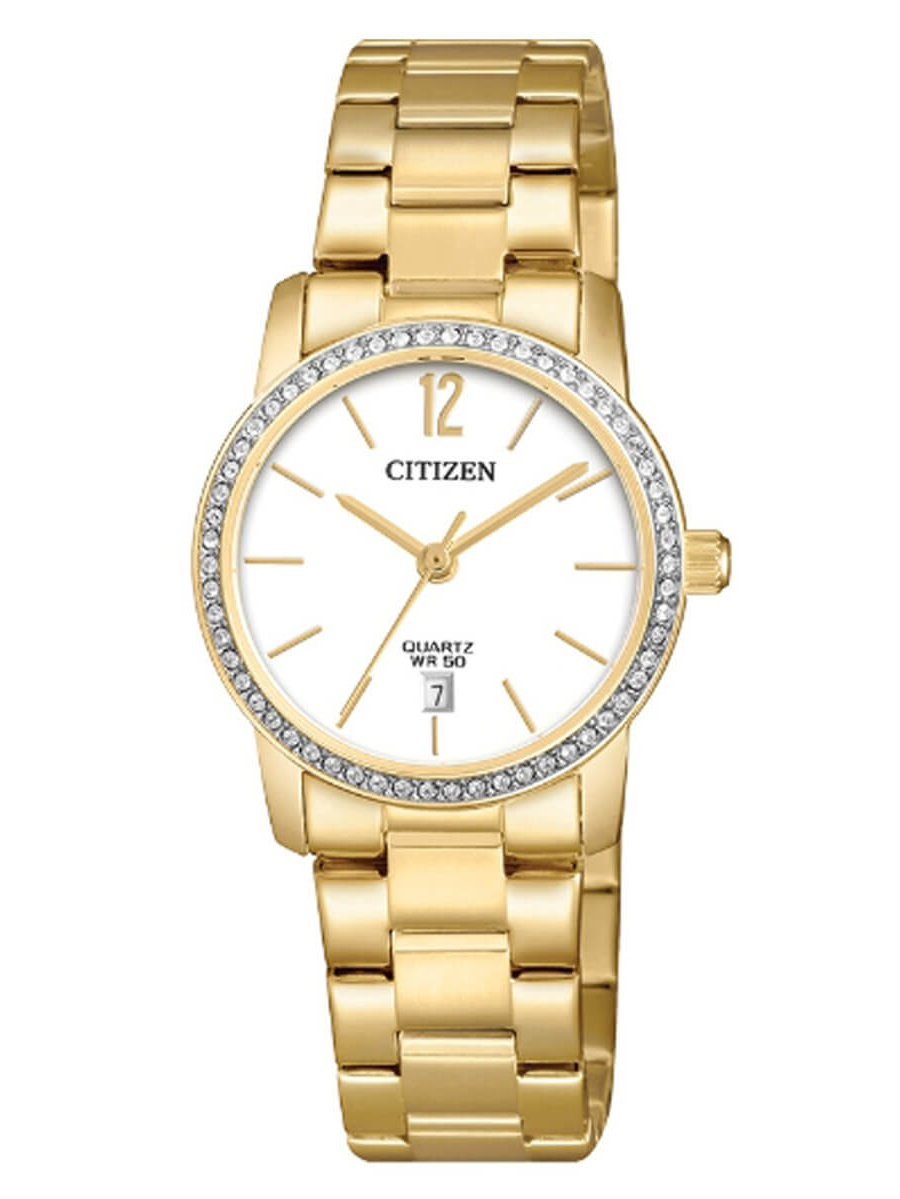 Citizen EU6032-85A Women's Quartz Yellow Gold Steel Crystal Watch