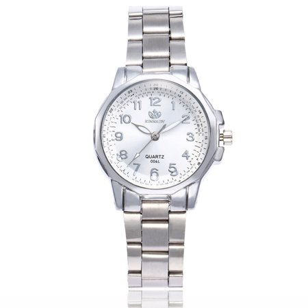 BEAD BEE Women Fashion Stainless Steel Band Analog Quartz Round Wrist Watch Watches