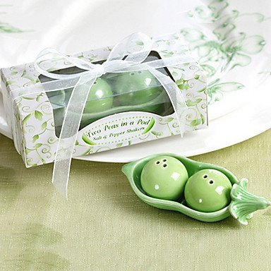 Two Peas in a Pod Salt and Pepper Shakers ()