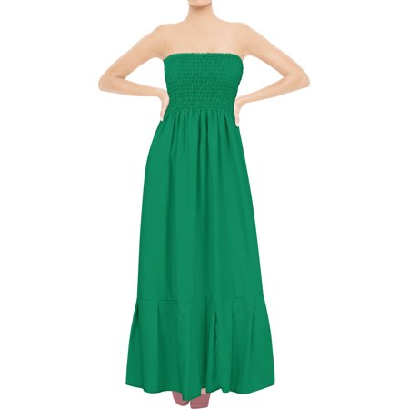 20 Solid Colors Sundress Casual Dress Maxi Long Full Length Cover up Tube Top