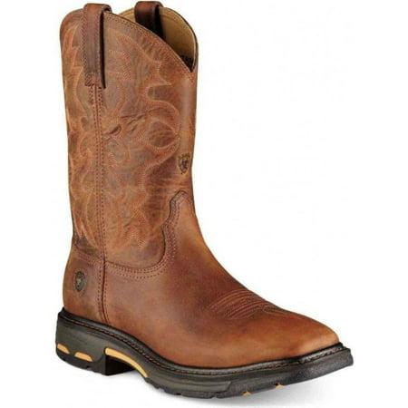 Ariat Men's WorkHog Square Toe Premium Toast Boots 7044 Ariat English Riding Boots
