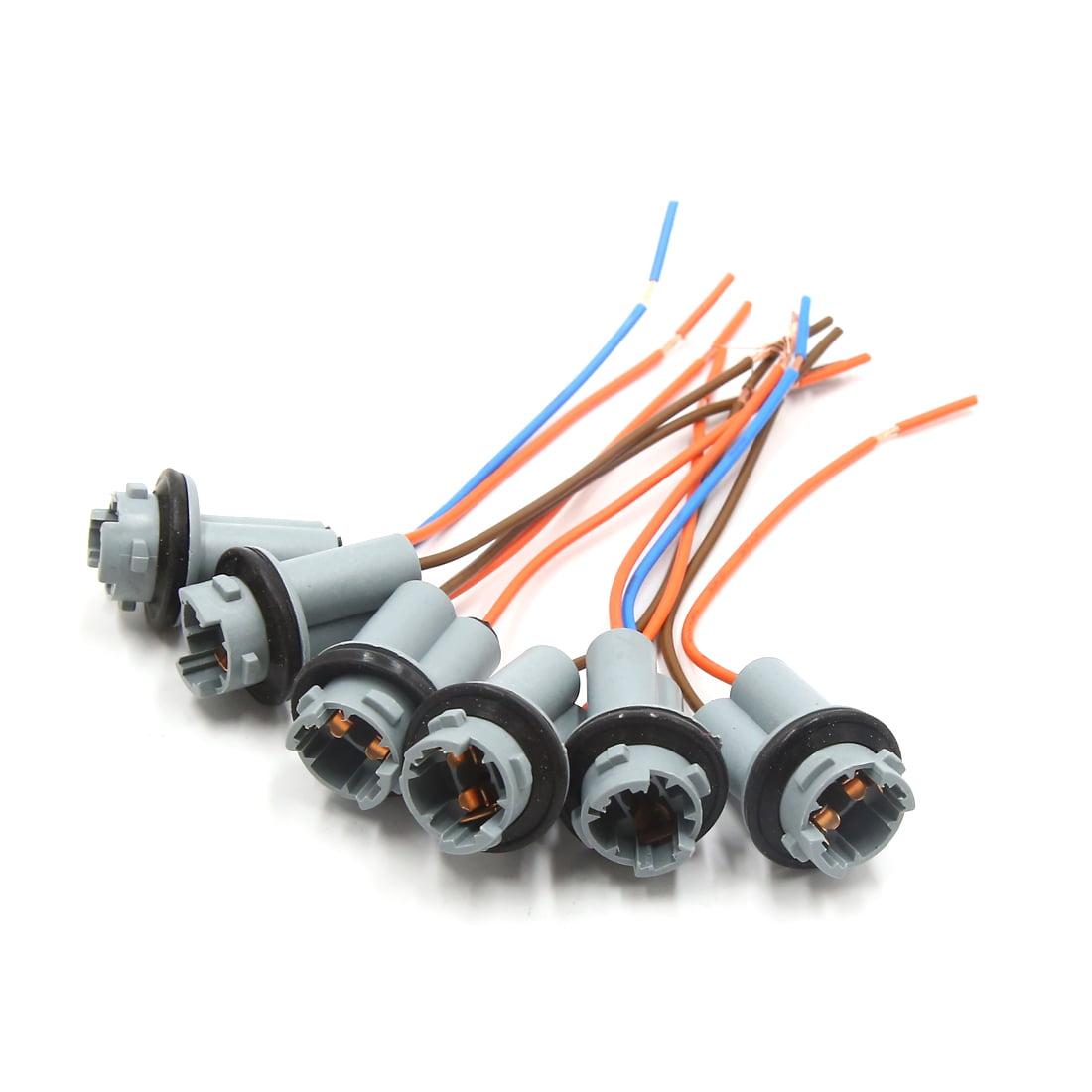 6Pcs T10 W5W 168 194 2 Wires Car Interior Light Bulb Extension Socket Connector