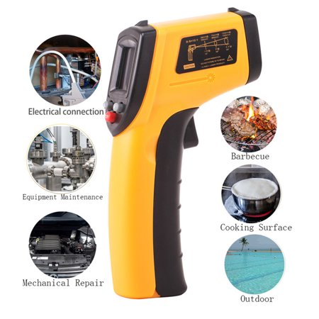 - Digital Laser Infrared Thermometer Non-contact Temperature Gun -58 F-deg ~626 F-deg