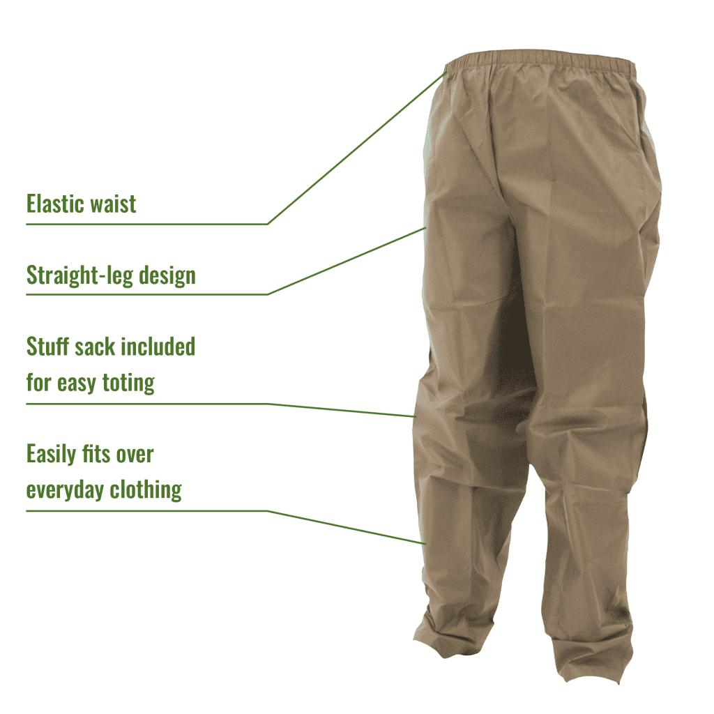 "Frogg Toggs Ultra-Lite Rain Suit /""Khaki/"" Medium"