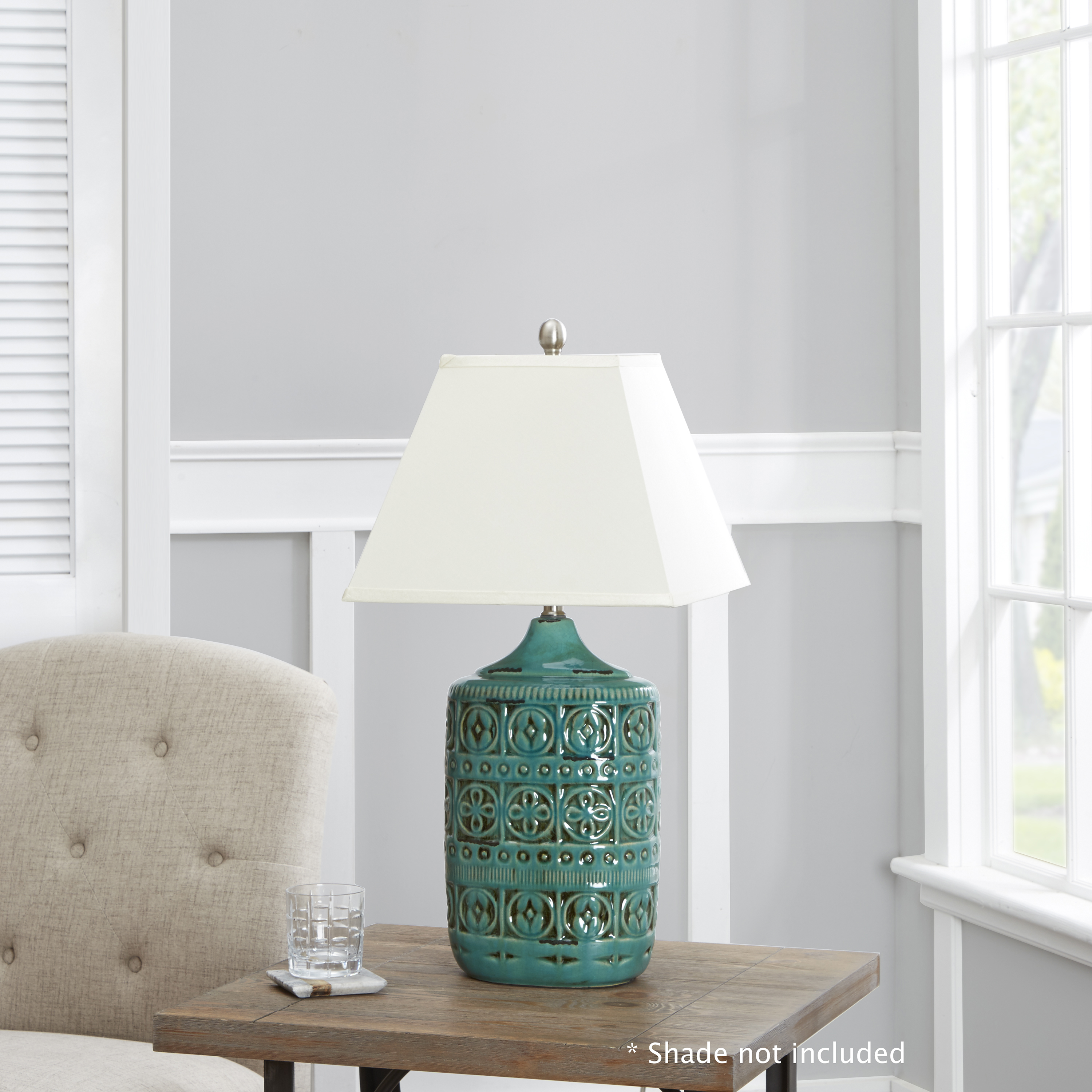Better Homes And Gardens Teal Ceramic Table Lamp Base Walmart Com