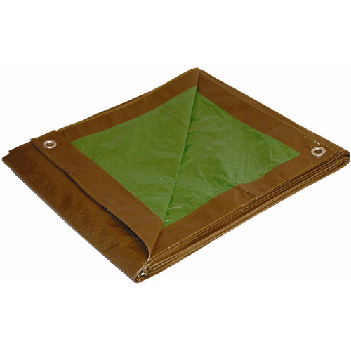 Foremost Tarp 12' x 16' Brown and Green Dry Top Reversible Polyethylene Tarp