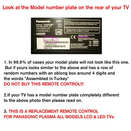 Replacement For Panasonic Remote Control Universal For Panasonic All Models TV - image 1 de 7