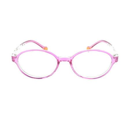 a32df27a175e Eye Buy Express Prescription Glasses Boys Girls Pink Clear Rounded  Rectangular Reading Glasses Children Anti Glare grade - Walmart.com