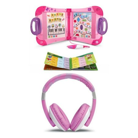 LeapFrog Headphones Pink and LeapStart Learning System Pink Bundle, Kids Interactive Toys for Learning and Creativity, Educational Gift Set for Kids