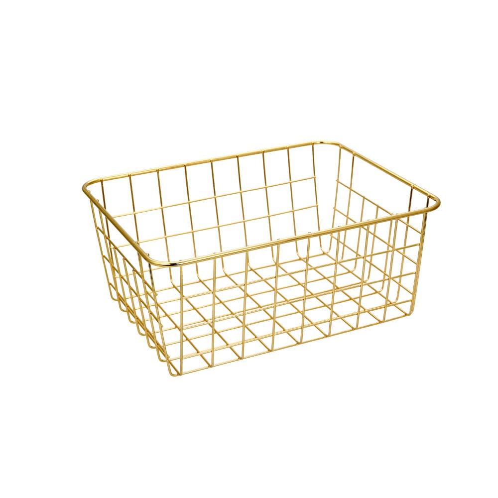 Mainstays Ms Wire Basket (gold) - Walmart.com