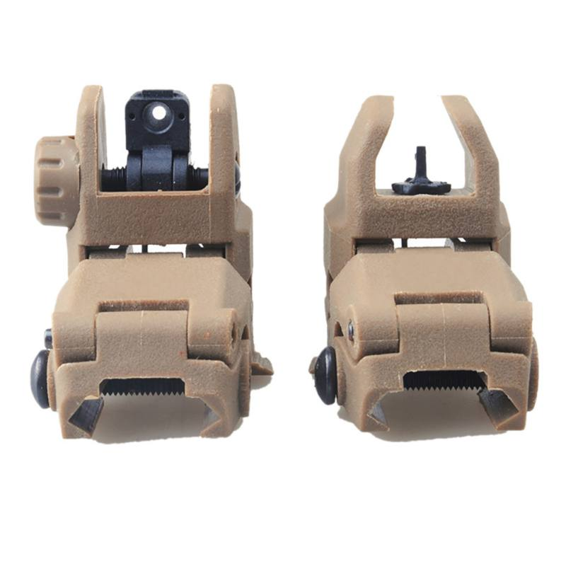 MBUS Front & Rear Flip Up Backup Sight,Tactical Front and Rear 45 Degree Folding Back-up Sights Set for 20mm Rail Picatinny