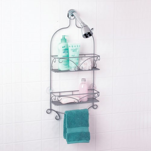 Nickel Scroll Shower Caddy by Zenith Products