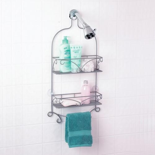Nickel Scroll Shower Caddy