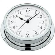 """Barigo Viking Series Quartz Ship's Clock - Chrome Housing - 5"""" Dial 611CRAR"""