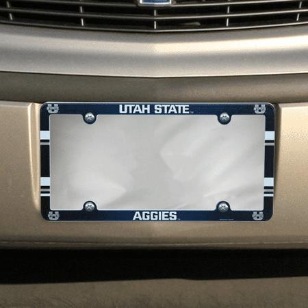 Utah State Aggies Plastic License Plate Frame - No Size (Utah State License Plate)