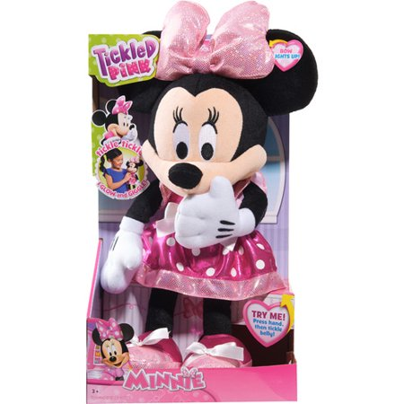 Disney Minnie Mouse Bow-Tique Tickled Pink Plush](Minnie Mouse With Light Up Bow)