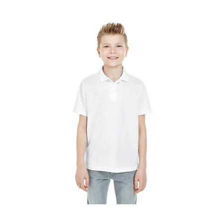 Ultraclub Pique Polo - UltraClub Big Boy's Cool & Dry Mesh Pique Polo Shirt, Style 8210Y