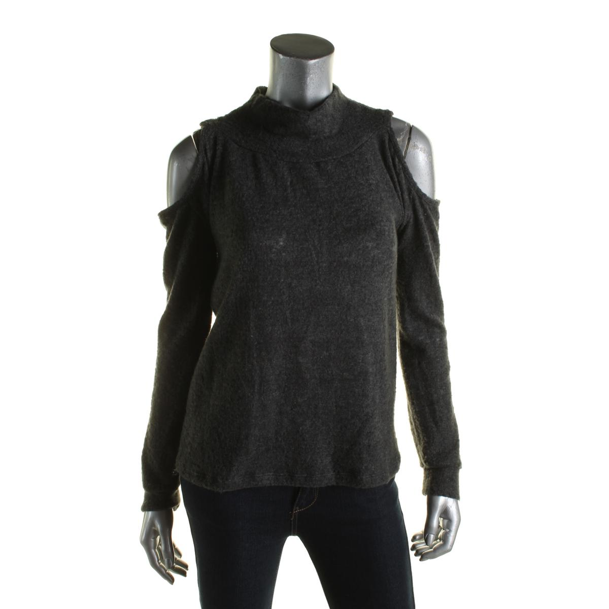 Elan Womens Fleecce Funnel Nck Pullover Sweater
