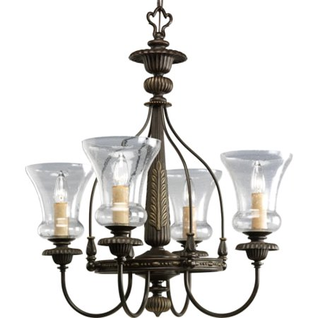 Progress Lighting P4407 Fiorentino Four Light Single Tier Mini Chandelier Wit