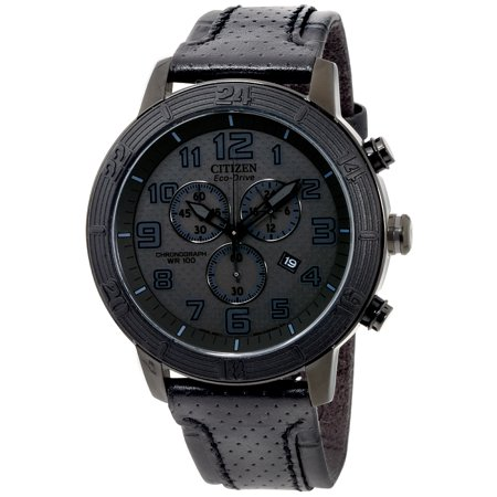 Citizen BRT Black Dial Leather Strap Men's Watch AT2205-01E