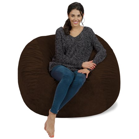 Super Memory Foam Bean Bag Chair 4 Ft Machost Co Dining Chair Design Ideas Machostcouk