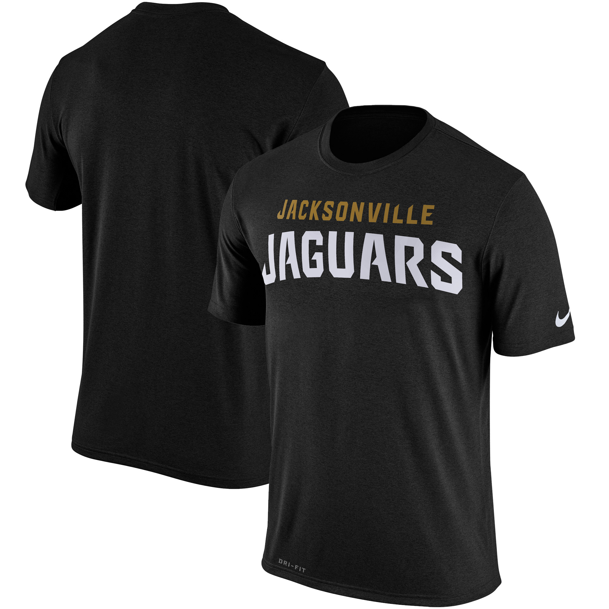 Jacksonville Jaguars Nike Legend Wordmark Essential 3 Performance T-Shirt - Black