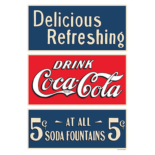 "Trademark Fine Art ""Coke Soda Fountain"" Canvas Art"