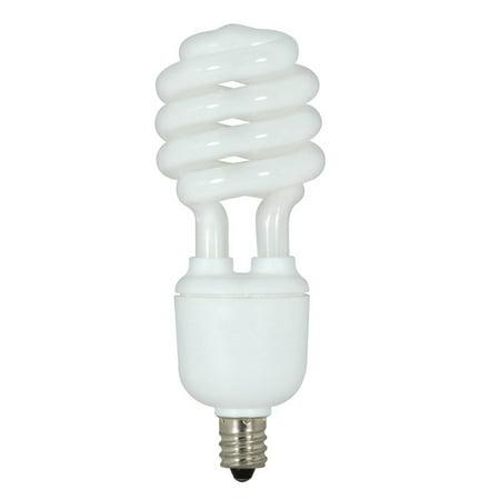 13w Fluorescent Bulb (Satco S7366 13W T2 Ultra Mini Spiral E12 Candelabra base 5000K fluorescent bulb)