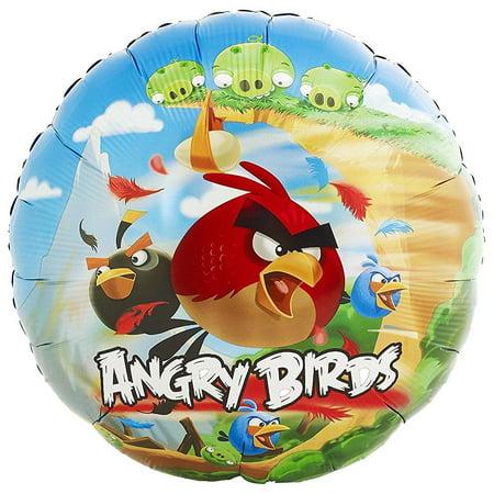 Angry Birds Halloween Background (angry birds foil mylar balloon)