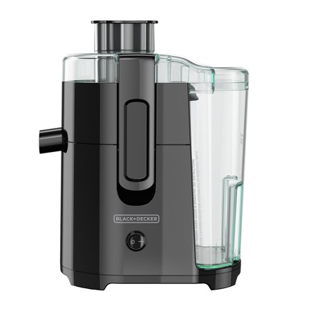 Best BLACK+DECKER Fruit and Vegetable Juice Extractor with Space Saving Design, Black, JE2400BD deal